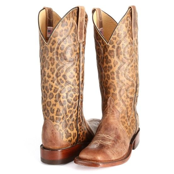 Leopard Print Anderson Bean Cowboy Boots | The leopard, Boots and ...