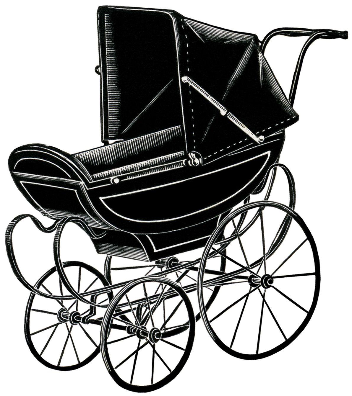 Old Design Shop Free Digital Image English Pram Vintage Images Vintage Baby Pram