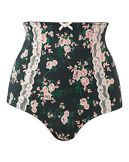 f9c736adf7e I love high waist knickers and these rose print lace knickers from Simply  Be have a lovely vintage style. They are available up to size 32 so they  are ...