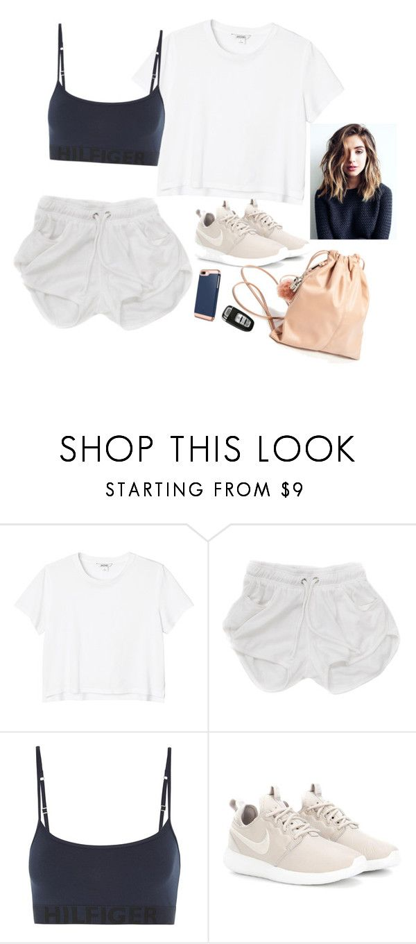 """""""Sundae mornin"""" by youngsmile on Polyvore featuring Monki, Tommy Hilfiger and NIKE"""