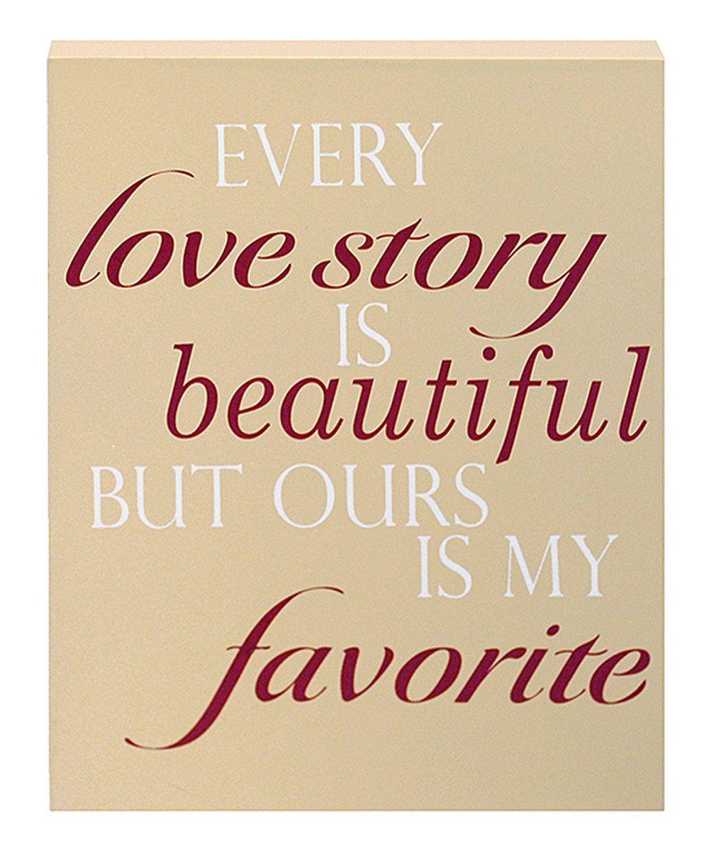 Look at this 'Love Story' Wall Art on #zulily today!