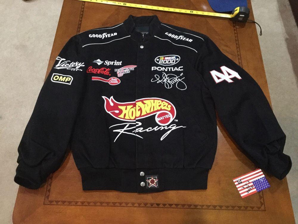 ee458ce95cb eBay  Sponsored NASCAR Vintage 2000 Kyle Petty Hot Wheels Racing JACKET  Small USA Made PONTIAC