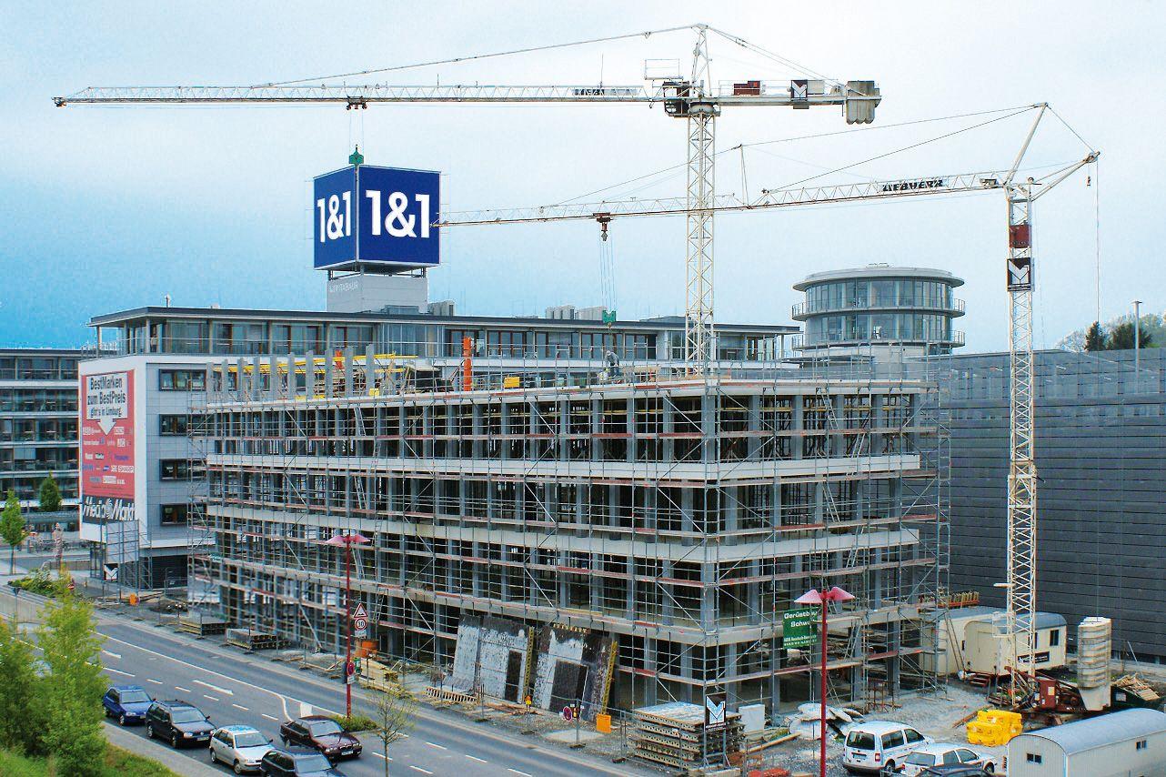 Verwaltungsgebäude, Montabaur — Stahlbeton-Skelettbau unter ...