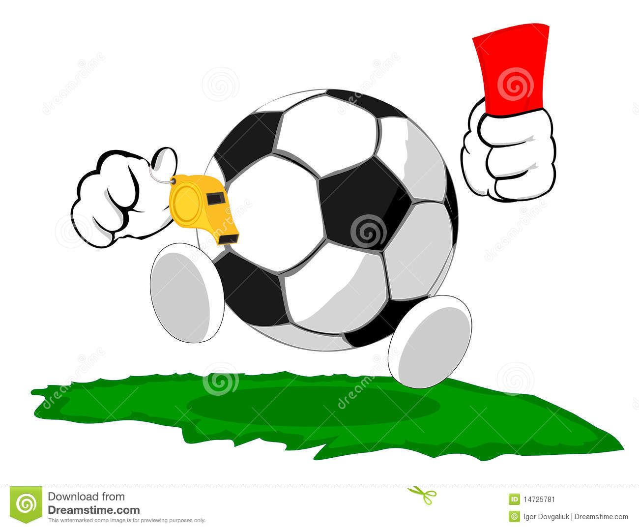 Cartoon Soccer Ball The Judge Soccer Ball Soccer Soccer Referee