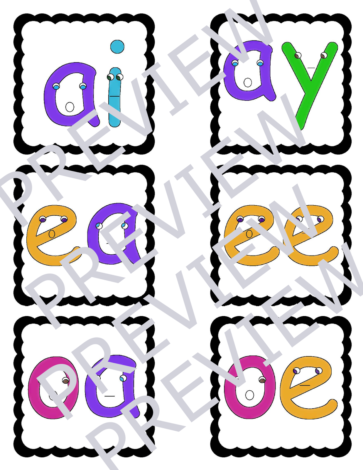 Busy Mama Amp Her Boys Vowel Digraphs Talkers Activities