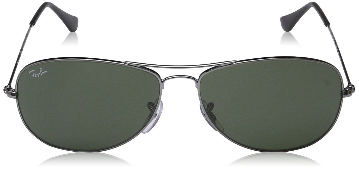 0d56baa7a83a1 RayBan Cockpit Sunglasses Gunmetal Crystal Green One Size    Find out more  by seeing