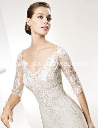 c3e977220a9 Beautiful cleavage  Wedding dresses