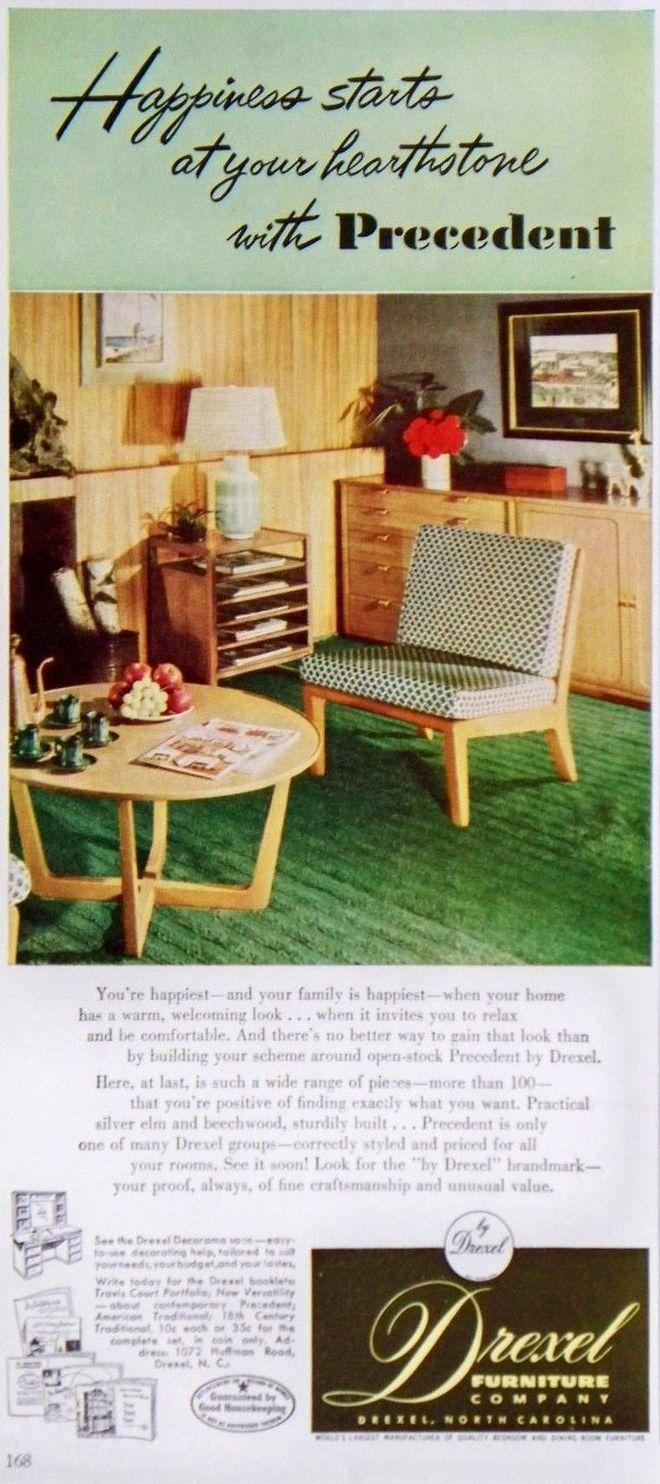 Delightful DREXEL 1951 Precedent   EDWARD WORMLEY   Good Housekeeping Feb 1951