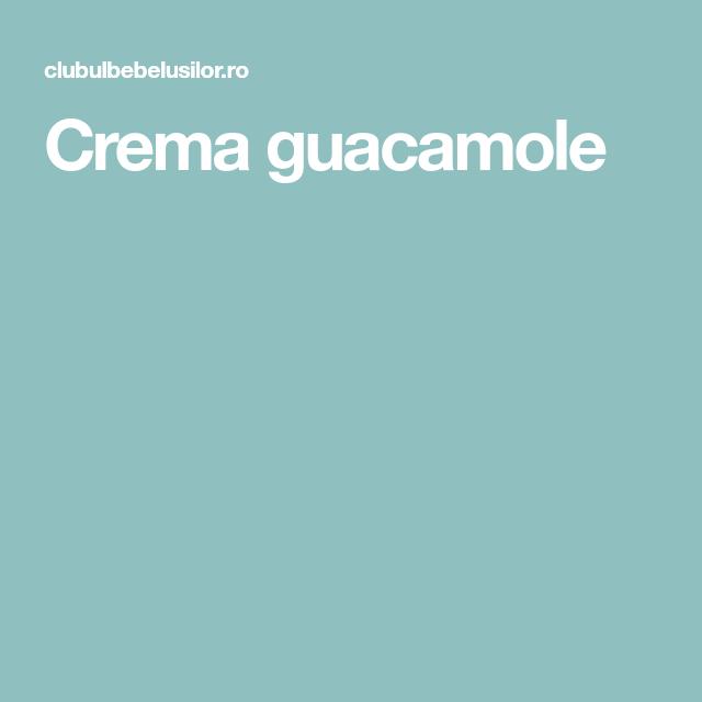Crema guacamole