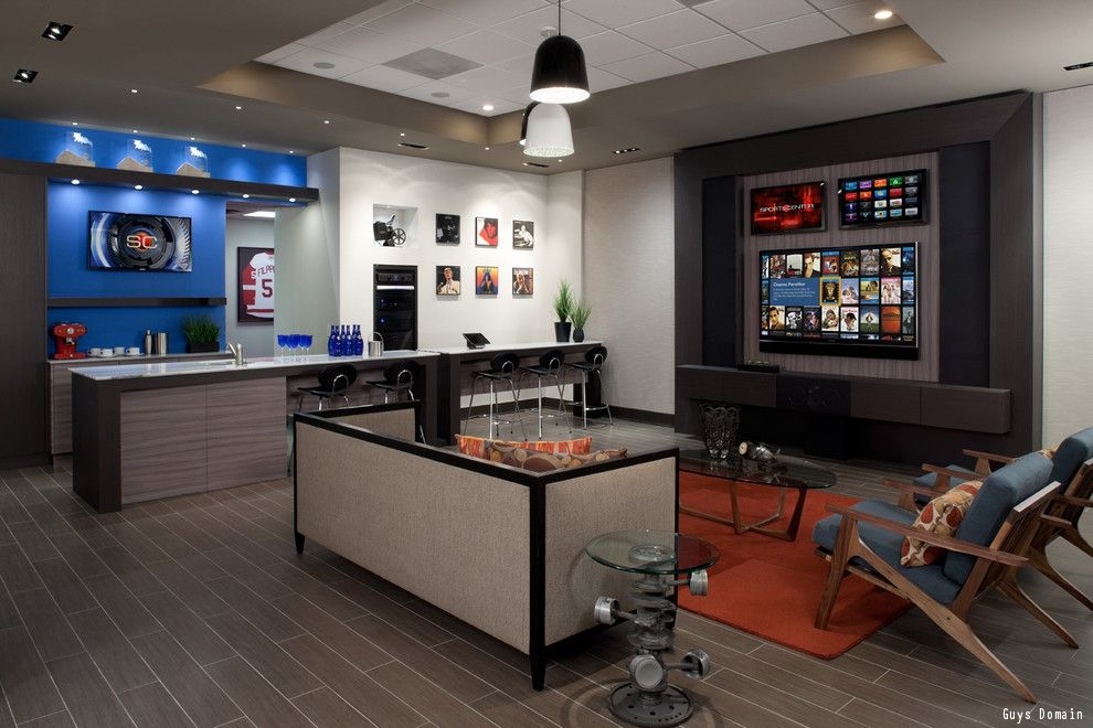 A Gentleman S Guide To Styling A Man Cave Man Cave Design Bars For Home Man Cave Basement