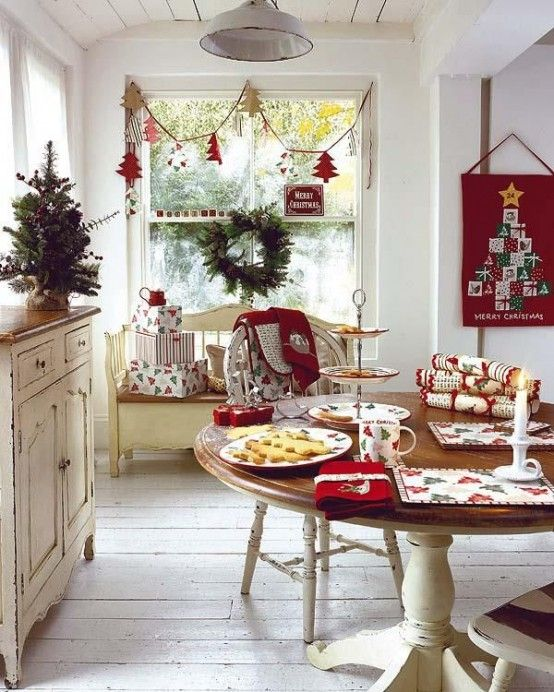 Como Decorar Tu Cocina Para Navidad Mesa De Navidad Como