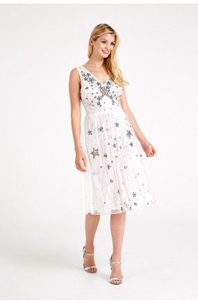 Frock and Frill Sequin Embellished Star Dress