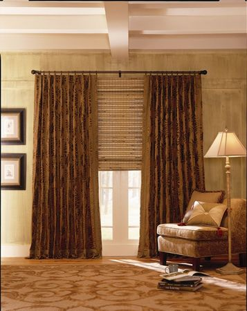 home office window treatment ideas | gallery idea center window