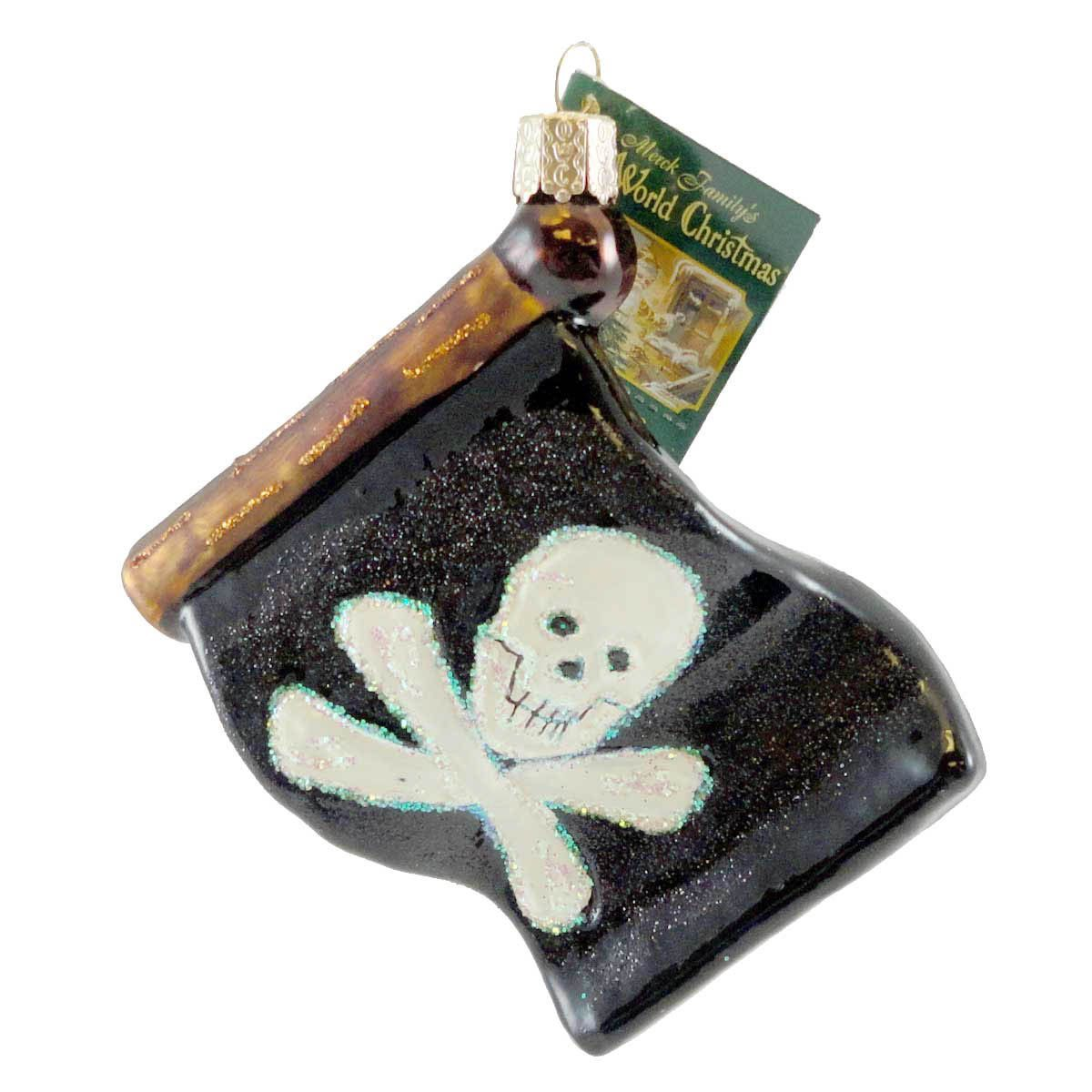 Jolly Roger Flag Halloween Glass Ornament | Products | Pinterest