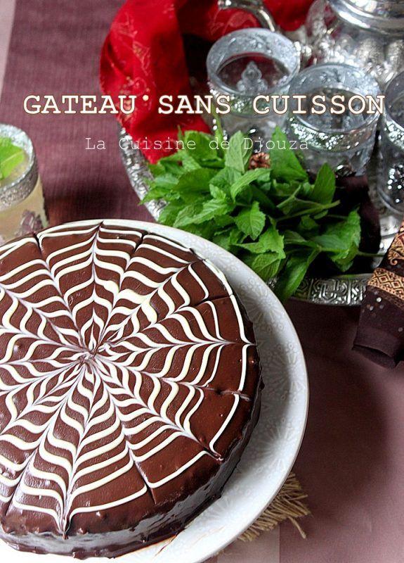 Gâteau au chocolat sans cuisson (petit beurre et ganache ...