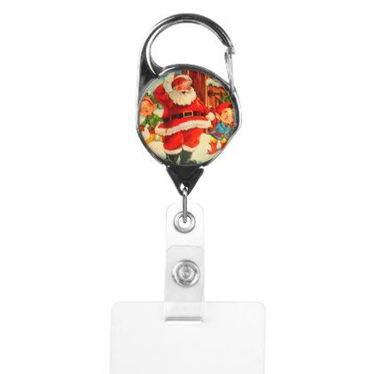 #Christmas Stocking Stuffer Santa Claus Clip Badge Holder - #Xmas #ChristmasEve Christmas Eve #Christmas #merry #xmas #family #kids #gifts #holidays #Santa