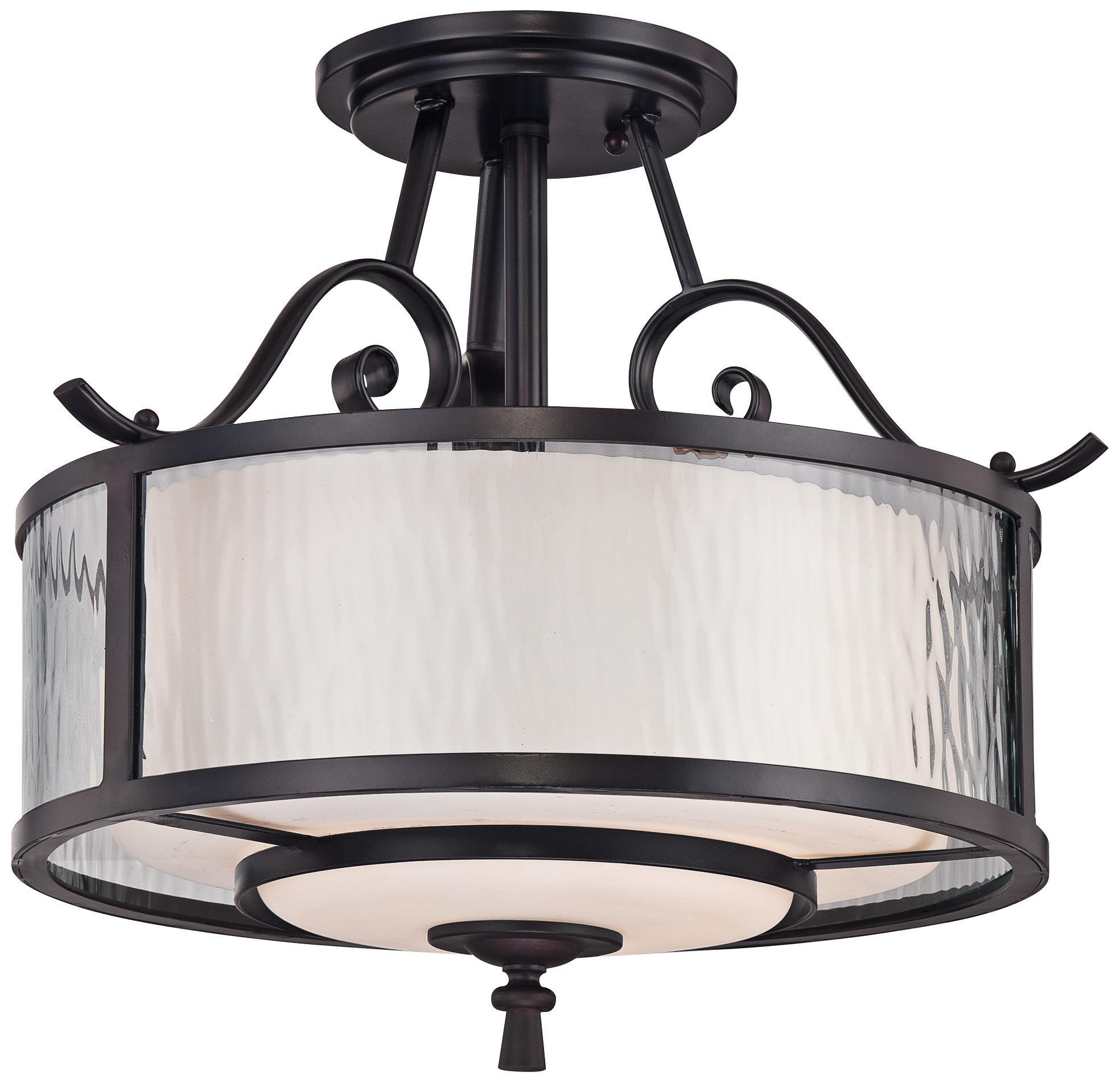 350 91 Adonis 15 Wide Semi Flushmount Quoizel Ceiling Light