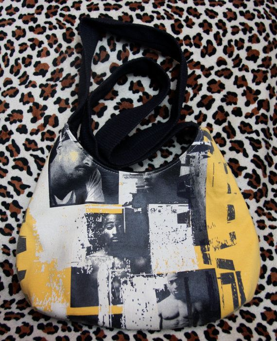 TUPAC  Upcycled Rock Band Tshirt Purse  OOAK by evilrose on Etsy, $22.22