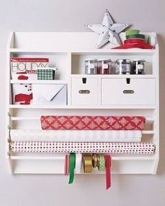 Wall Mounted Craft Organizer Gift Wrap Organization Craft
