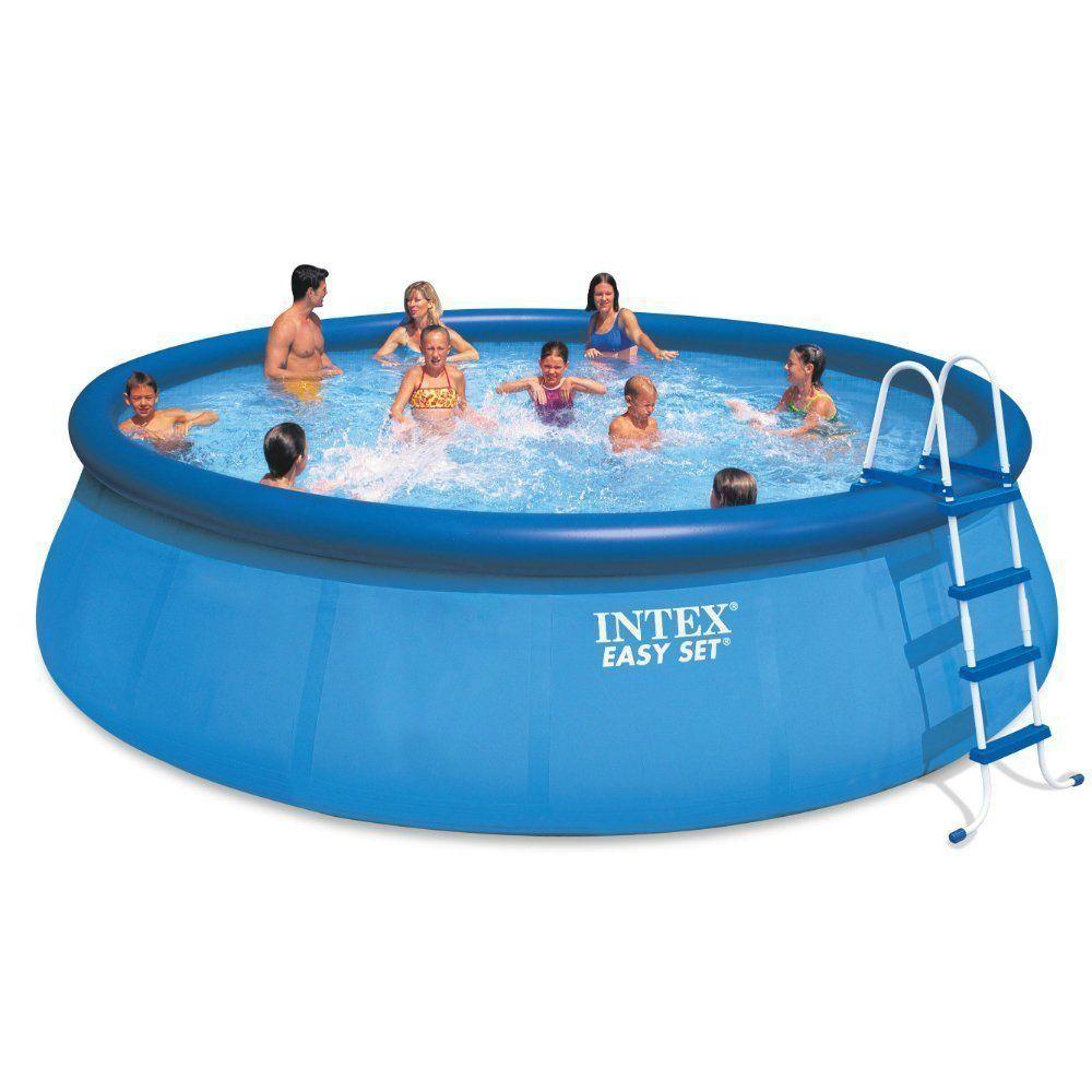 Big Intex 18 X 48 Inflatable Easy Set Above Ground Pool Pump Filter Cover New Intex Easy Set Pools Inflatable Pool In Ground Pools
