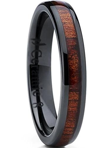 Tungsten Carbide Ring Goldtone Wedding Band 4mm Men Women Comfort ...