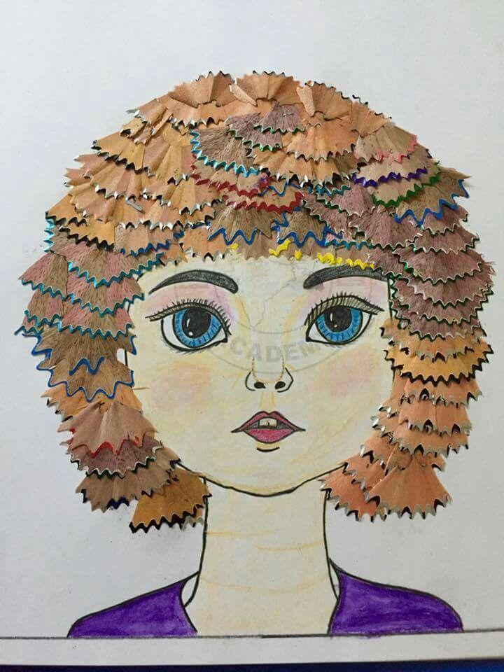 pencil waste used for craft crafts waste art art for kids art. Black Bedroom Furniture Sets. Home Design Ideas