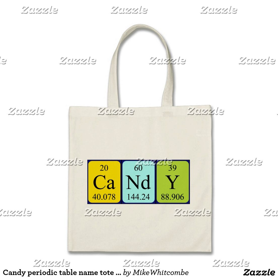 Candy periodic table name tote bag periodic table and tote bag candy periodic table name tote bag urtaz Image collections