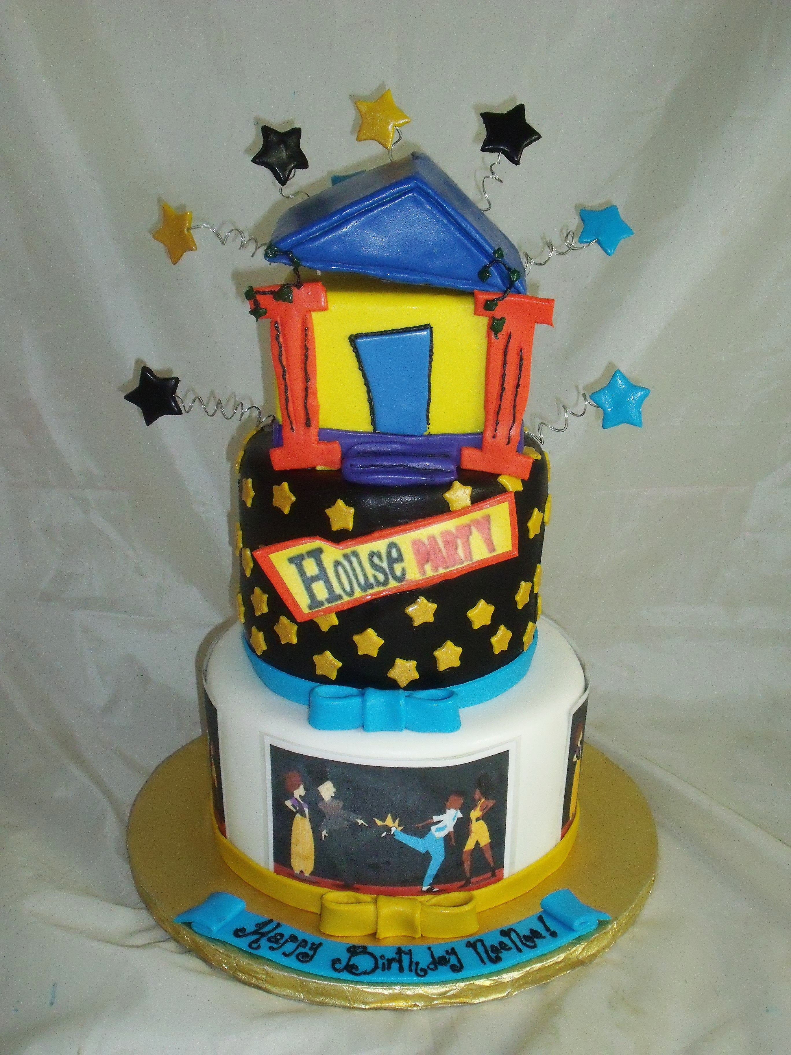 Kid Play House Party Cake
