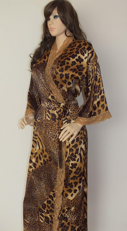 """Long silk robe 53"""", floor length silk robe,kimono robe"""