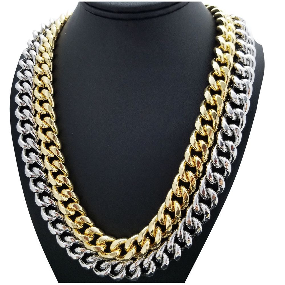 9d0374b1fbff3 Hip Hop Gold plated Rapper Style 14mm 24