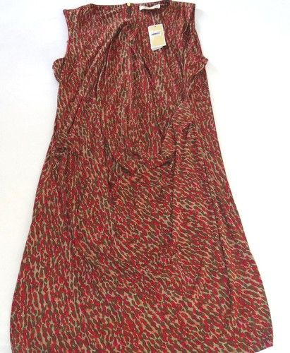 NWT MICHAEL KORS LACQUER PINK DRESS SLEEVELESS ROUND NECK KNEE LENGH $130.00
