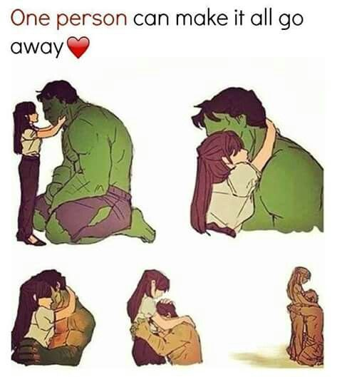 Hulk/Bruce Banner and Betty Ross | Marvel/ DC/ Comics | Hulk art