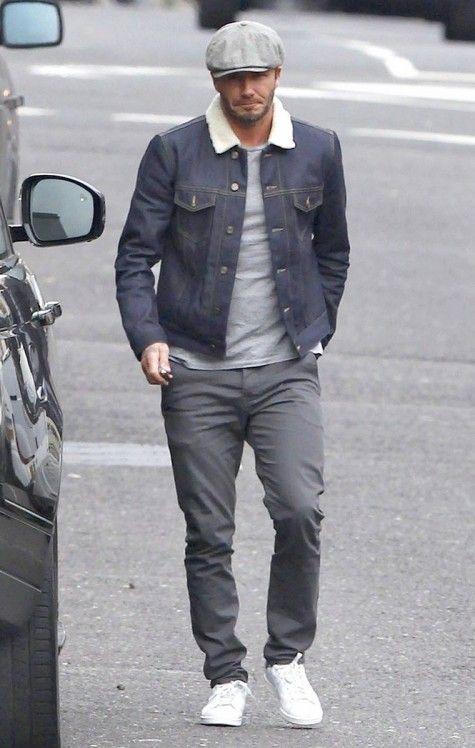 super popular fa9cd 6d284 David Beckham nam tính và năng động với giày Adidas stan Smith trắng