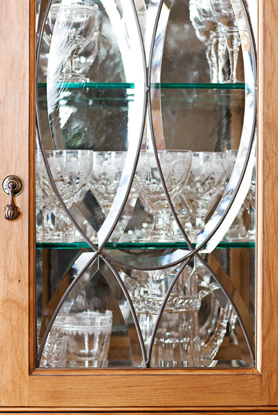 Great Kitchen European Style Redesign Glass Cabinet