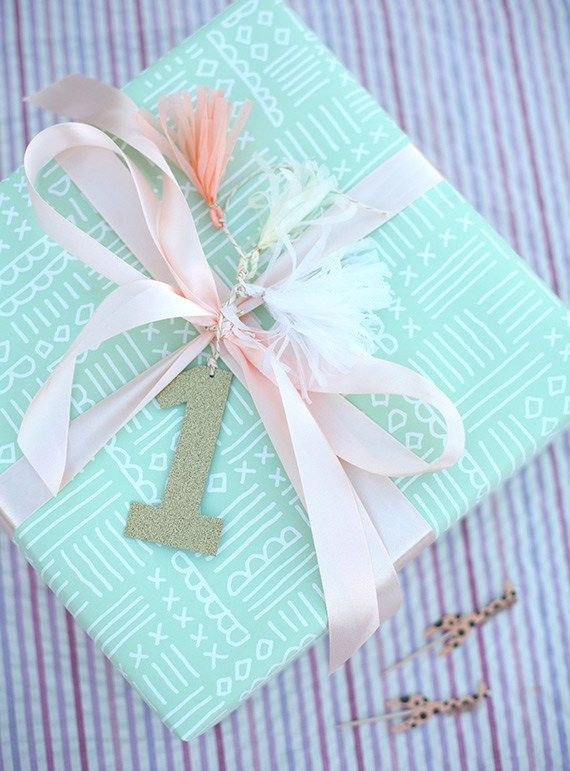Gift Wrap Idea For Childs Birthday First DIY