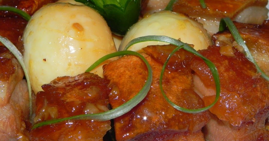 Braised pork with hardboiled eggs also known as thit