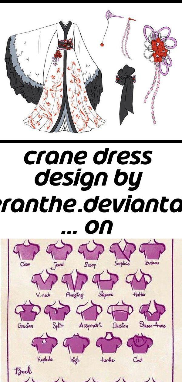 Crane dress design by viantar  on deviantart 2 Crane Dress Design by viantar  on DeviantArt Types of necklines Valentines Day Fashion Drawing Contest  Little Girl 16 15 I...