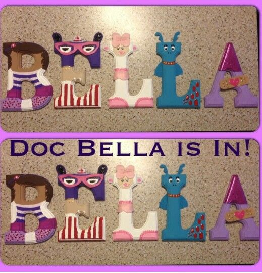 Doc Letters  Wood Name    Birthdays And Doc Mcstuffins