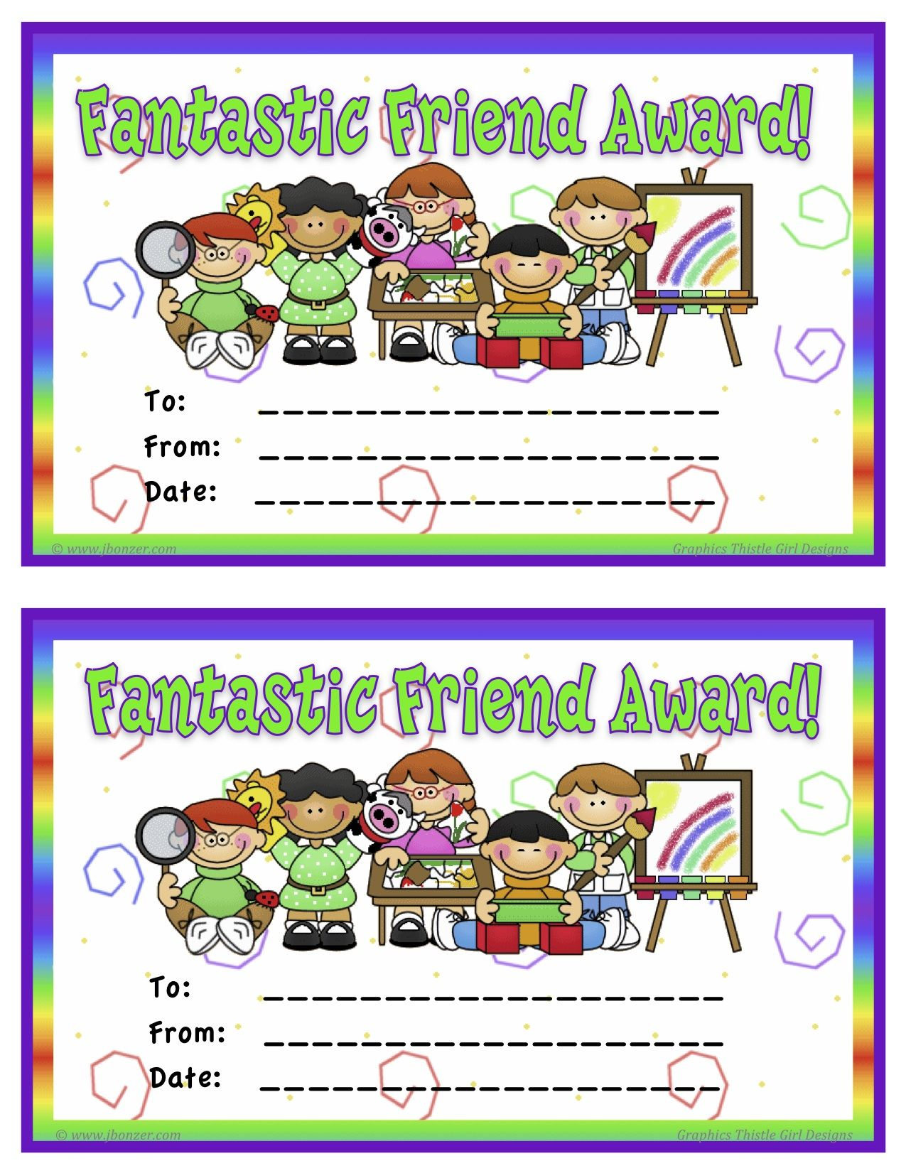 Student Awards Student Of The Week Certificates Punch Cards