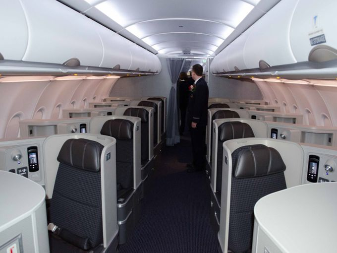 First Look American S New Airbus A321 Transcontinental Air Travel