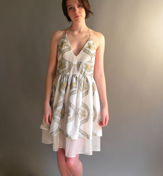 Beachy halter dress On Sale 30 Off by allfieruth on Etsy, $112.00