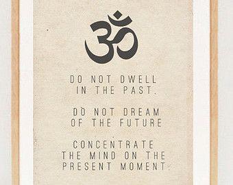 Buddhist Wall Art buddhism poster spiritual typography wall art print - buddha