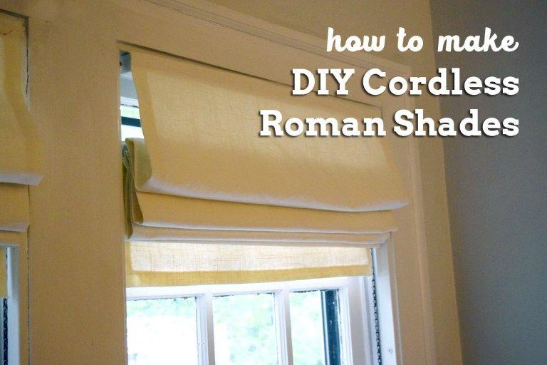 How To Make Diy Cordless Roman Shades Always Making
