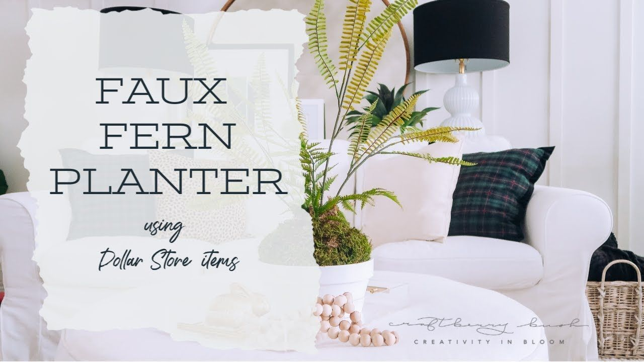 Faux Fern Planter Using Dollar Store Items Fern Planters 400 x 300