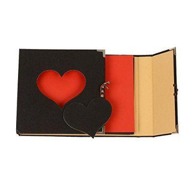 Vintage Hollowed Heart Shape Photo Image Album Scrapbook Memory