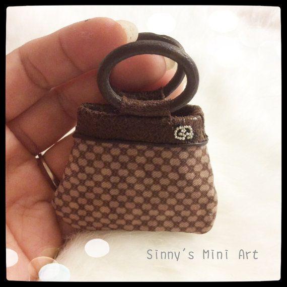 Dollhouse+Miniature+Gucci+purse+hand+made+by+SinnysMiniArt+on+Etsy