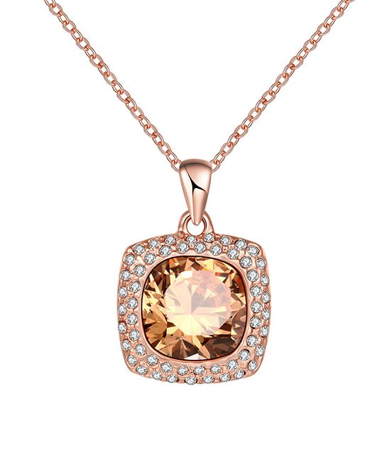 48dce5028 Riakoob Swarovski® Crystal & Rose Gold Pendant Necklace | zulily . $14.99  Compare at $64.99 . Product Description: Adorned with crystals from  Swarovski®, ...