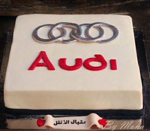 audi logo cake torten pinterest. Black Bedroom Furniture Sets. Home Design Ideas