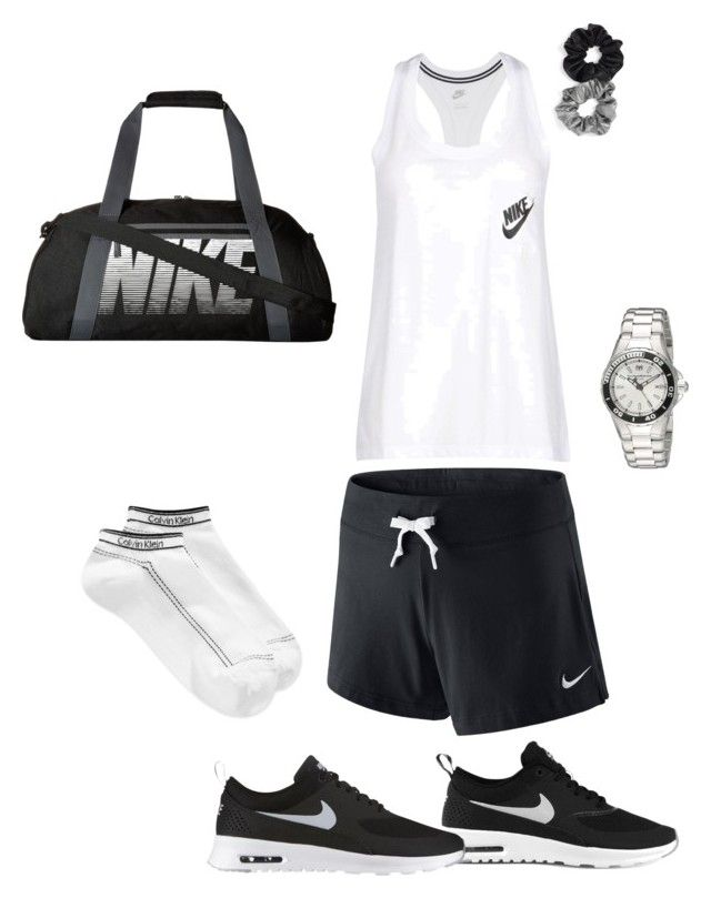 """""""workout clothes"""" by blh7475 on Polyvore featuring NIKE, Calvin Klein, TechnoMarine and Berry"""
