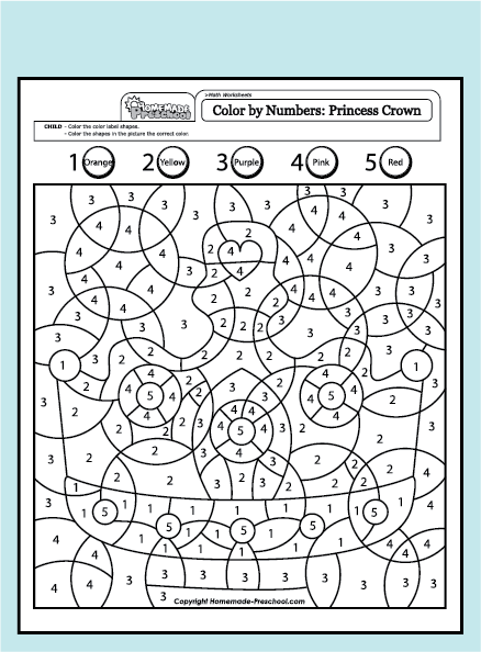 fun and interactive preschool worksheets color by number pinterest creative preschool. Black Bedroom Furniture Sets. Home Design Ideas